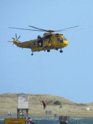 Rescue services near Holy Island
