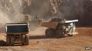 The copper mine 'La Escondida' in the Antofagasta region, 1800 km to the North of Santiago