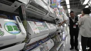 Daikin air conditioner on display in Tokyo