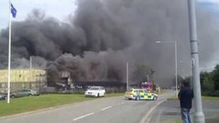 Fire at Ifor Williams factory