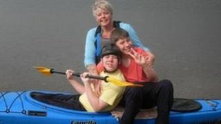 Dawn Raynor and her two sons Callan and Ethan