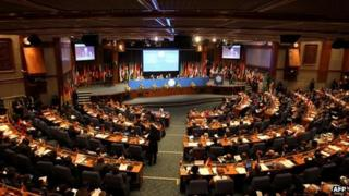 Delegates gathered at the 16th NAM Summit