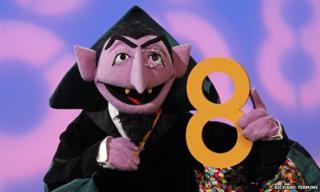 Count von count holding the number eight