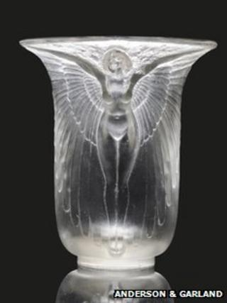 Lalique glass vase