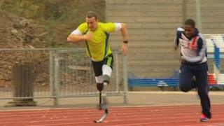 Richard Whitehead training in Loughborough