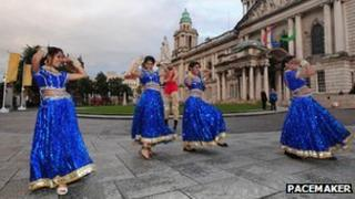 Dancers at Belfast City Hall