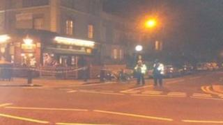Police stand by scene of incident