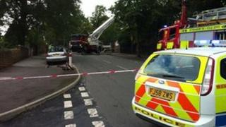 The scene of the school fire in Sneinton