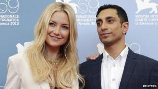 Kate Hudson and Riz Ahmed at Venice Film Festival
