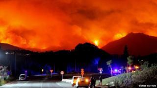Wildfire in Fuengirola. Photo: Diane Sutton