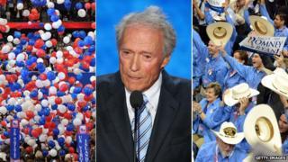 Balloons, Clint Eastwood, Texas delegates