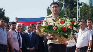 Ramil Safarov in Baku. Photo: 31 August 2012