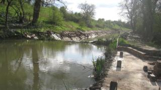 Newly restored section of the Herefordshire and Gloucestershire Canal