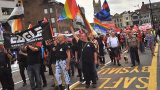 The Cardiff Mardi Gras parade