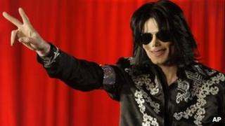Michael Jackson appears at the 02 in London to announce his This Is It concerts