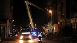 Firefighters on Derby Street