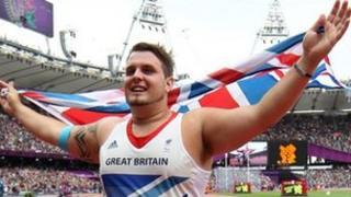Aled Sion Davies celebrates winning gold