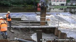 Weir on the River Esk at Ruswarp. Picture: Esk Energy (Yorkshire) Ltd