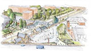 Malvern Link station redevelopment - artist's impression