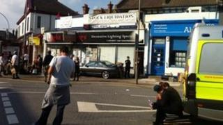 Bystanders at the Brighton squat raid