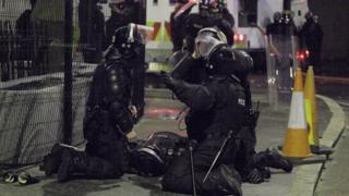 PSNI officers tend to colleague