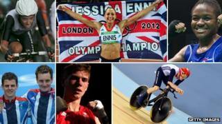 Montage of Olympic athletes from Yorkshire who competed in the London 2012 Games