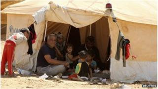 Syrians at a refugee camp in Mafraq, Jordan (30 Aug 2012)