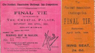 Fake FA Cup tickets created by James Warren