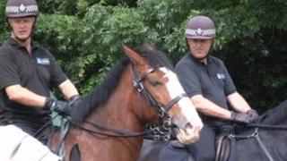 Policemen on horses