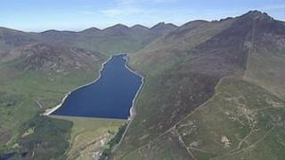 Aerial view of the Mournes