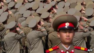 File photo: North Korean soldiers