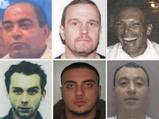 Six of the suspects