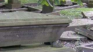 Some memorials and grave stones in Dean Road cemetery need restoration