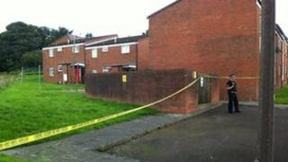 Police cordon in Horwich