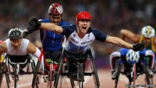Paralympic wheelchair racing star David Weir