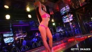 A stripper on a pole file pic