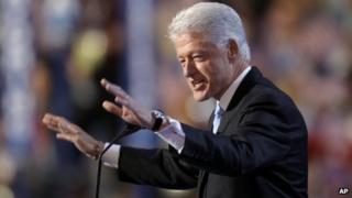 Bill Clinton at the Democratic convention, 2008