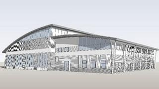 Artist's impression of new Guildford fire station