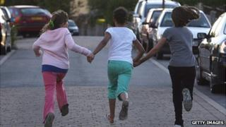 Children playing in a street