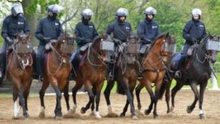 Lancashire Constabulary's mounted police
