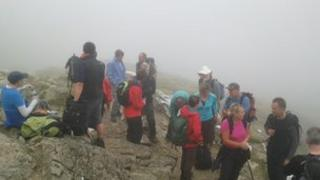 MPs on top of Snowdon