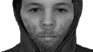 A police image of the suspected rapist