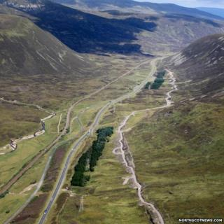 Aerial image of Drumochter Pass