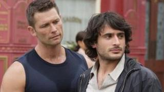 John Partridge and Marc Elliott as Christian and Syed in EastEnders