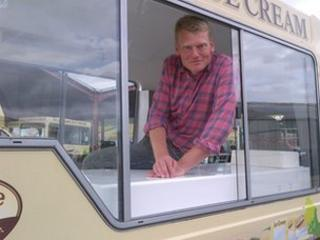 Tom Heap in ice cream van