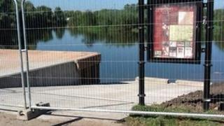 Gloucestershire Fire and Rescue Service's new emergency river slipway in Tewkesbury