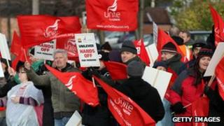 Union protesters from Unilever