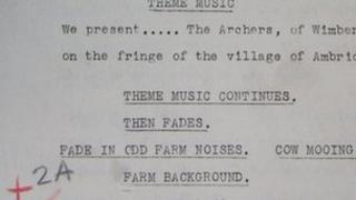 BBC Radio 4 The Archers script