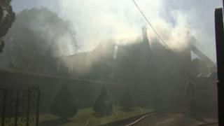 Fire at Luckington Manor