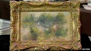 What is believed to be an original painting of Pierre-Auguste Renoir